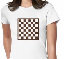 Checkers board Womens Fitted T-Shirt