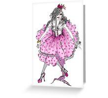 Lady Cupcake Greeting Card
