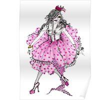 Lady Cupcake Poster