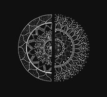 mandala in black and separation Womens Fitted T-Shirt