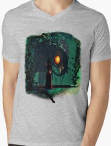 Bioshock Infinite Songbird & Elizabeth Mens V-Neck T-Shirt