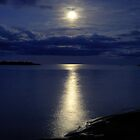Superior Moon - Isle Royal National Park by Mark Heller