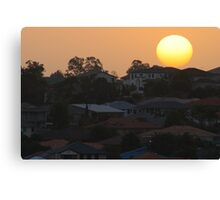 Sunset over the suburb Canvas Print
