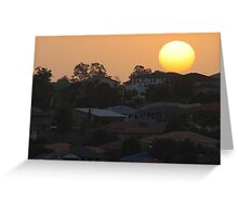 Sunset over the suburb Greeting Card