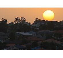 Sunset over the suburb Photographic Print
