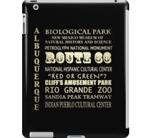 Albuquerque New Mexico Famous Landmarks iPad Case/Skin