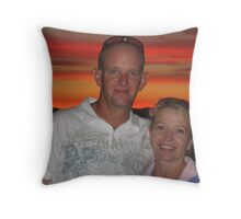 David and Lee Throw Pillow