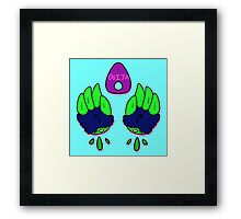 ouija hands Framed Print