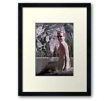 Lakeside Pin-up Framed Print