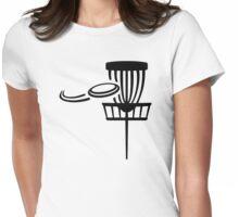 Disc golf Womens Fitted T-Shirt