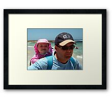 Bronte and Daddy Framed Print