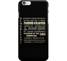 New Orleans Louisiana Famous Landmarks iPhone Case/Skin