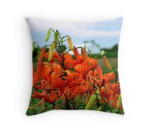 Summer Beauties...Turk's Cap Lilies Throw Pillow