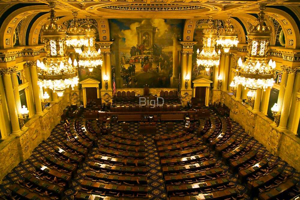PA House of Representatives Room-Harrisburg, PA by BigD