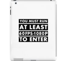 PC Master Race - Warning iPad Case/Skin
