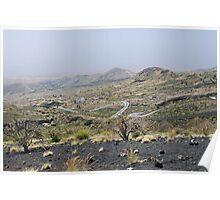 a desolate Cape Verde landscape Poster