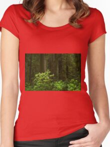 Redwoods and Rhrododendrons Women's Fitted Scoop T-Shirt
