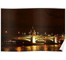 Thames At Night Poster