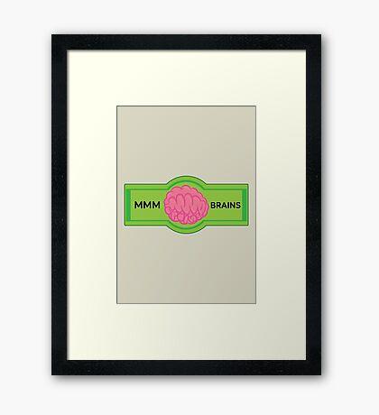 MMM Brains Framed Print
