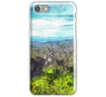 Laureana Cilento: landscape with  flowering trees and clouds iPhone Case/Skin