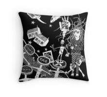 Red Dreams And Razorblades Throw Pillow