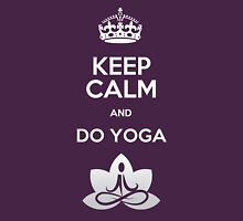 Keep Calm and do Yoga Womens Fitted T-Shirt