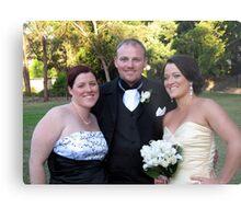 Anne, Brett and Kelly Metal Print