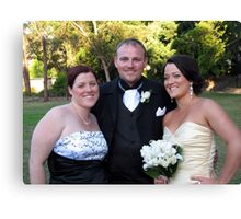Anne, Brett and Kelly Canvas Print