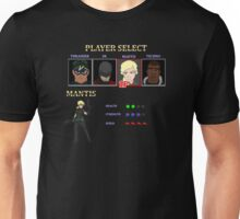 Retro Outlawed Justice Player Select - Mantis Unisex T-Shirt