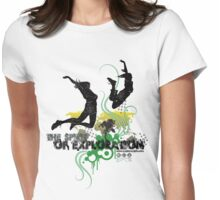 Spirit of Exploration - Green and Gold Womens Fitted T-Shirt