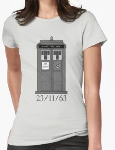Classic Who Police Box. Womens Fitted T-Shirt