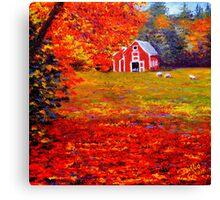 New England Sheep Barn Canvas Print