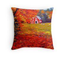 New England Sheep Barn Throw Pillow