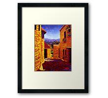 Countryside View in Gordes Framed Print