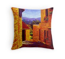 Countryside View in Gordes Throw Pillow