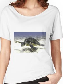 Caribbean Sea Turtle  Women's Relaxed Fit T-Shirt