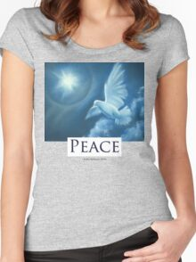 Peace T-Shirt Women's Fitted Scoop T-Shirt