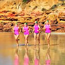 Rosebud girls crew at Anglesea by Andy Berry