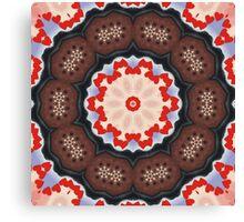 Valentine Chocolate Kaleidoscope Canvas Print