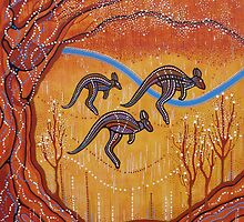 Kangaroos in the Valley by Lesley George