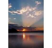 Spot Light on St Georges Basin Photographic Print