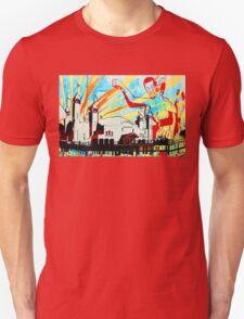 Wall Mural Pacific Park Santa Monica Pier California T-Shirt