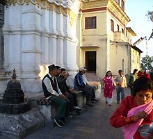 Early Morning Temple Worship by Angie Spicer