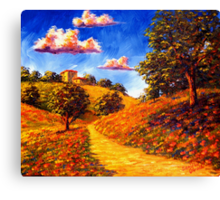 Road Home in the Poppy Hills Canvas Print
