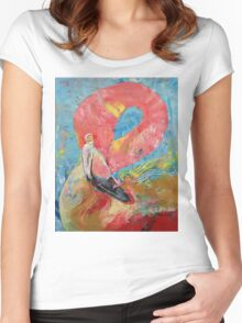 Pink Flamingo Women's Fitted Scoop T-Shirt