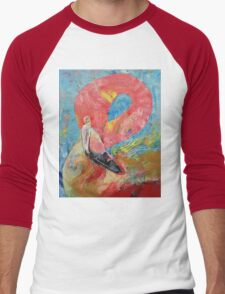 Pink Flamingo Men's Baseball ¾ T-Shirt
