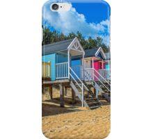 Coloured Beach Huts 3 iPhone Case/Skin
