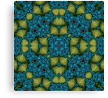 Abstract Pattern blue yellow Canvas Print