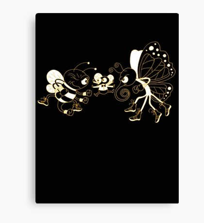 Float like a butterfly, sting like a bee! Canvas Print