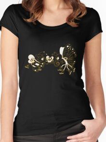 Float like a butterfly, sting like a bee! Women's Fitted Scoop T-Shirt